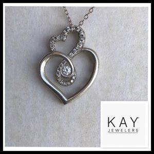 Kay Jewelers Love's Embrace Diamond Heart Necklace